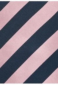 Businesskrawatte Streifendesign rose navy