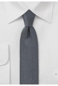 Seiden-Krawatte gewirkt anthrazit