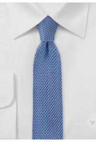 Seiden-Businesskrawatte gewirkt hellblau