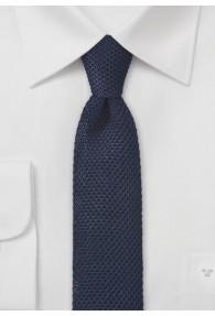 Seiden-Krawatte gewirkt dunkelblau