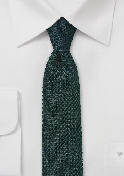 Seiden-Businesskrawatte gewirkt dunkelgrün