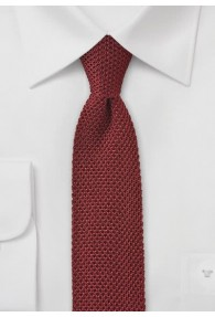 Seiden-Krawatte gestrickt rostrot