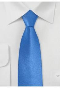 Blaue Krawatte schmal  einfarbig