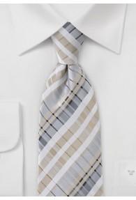 Stylische Krawatte ungewöhnliches Karo-Muster