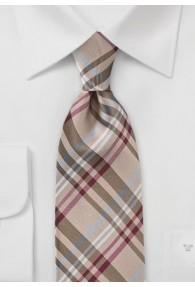 Modische Krawatte ungewöhnliches Glencheckdesign