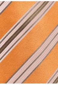 Krawatte mediterrane Streifen kupfer-orange