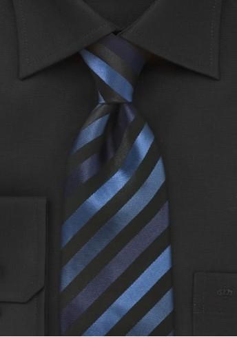 Kinder-Krawatte junges Streifenmuster navyblau navyblau