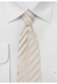 Chamonix Schmale Krawatte creme