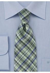 Krawatte dichtes Glencheckdesign blassgrün