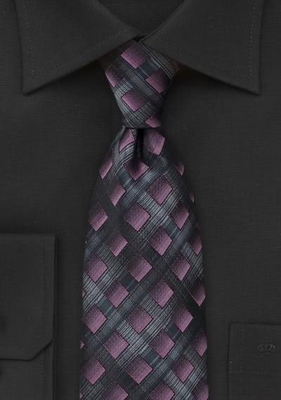 Krawatte Viereck-Stil violett