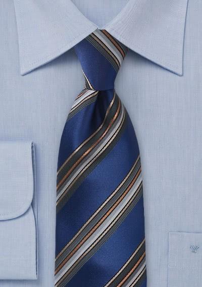 Kravatte Streifendesign blau