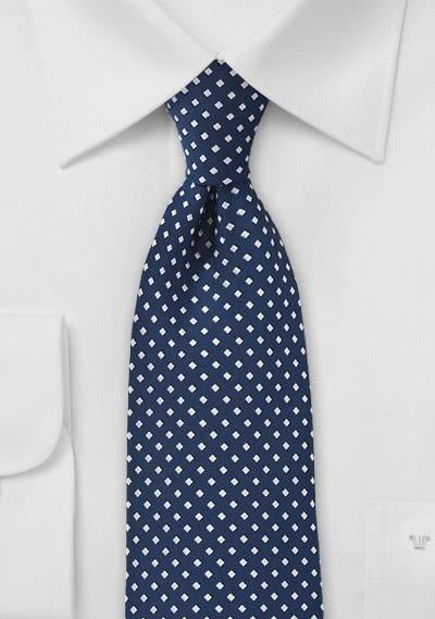 Krawatte Tupfen-Kästen navyblau