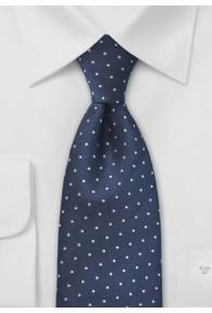 Clip-Krawatte Punkte navyblau silber