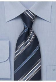 Krawatte Linien blau weiß