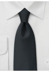 Krawatte feingerippte Oberfläche schwarz