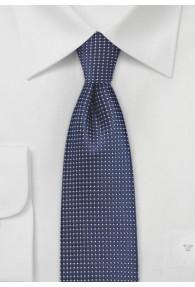 Schmale Krawatte strukturiert dunkelblau fast...