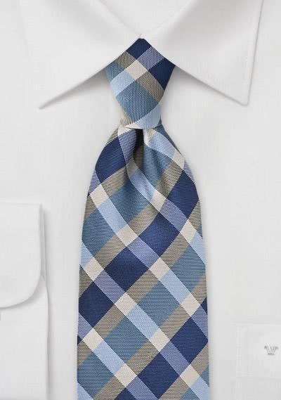 Stylische XXL-Krawatte extrovertiertes Karo-Muster