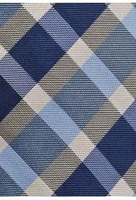 Stylische XXL-Krawatte extrovertiertes Karo-Muster hellblau