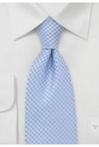 Clip-Krawatte hellblau Rauten-Dekor