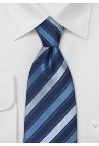 Clip-Krawatte Streifen blau
