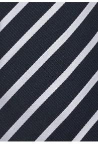 Herrenkrawatte Business-Linien dunkelblau weiß