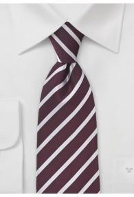 Krawatte Business-Linien bordeaux weiß