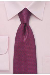 Krawatte Kästchen-Dessin rot blau