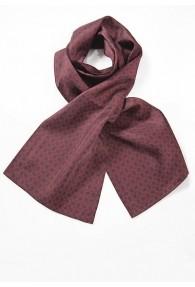 Krawattenschal Embleme burgunderrot