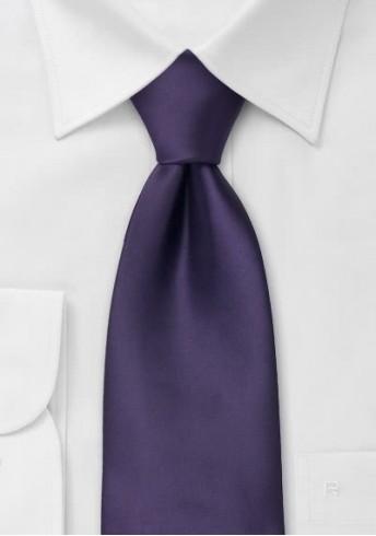 Extra lange Krawatte in dunklem violett