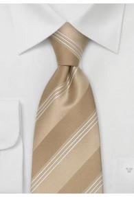 Krawatte Streifen Champagner
