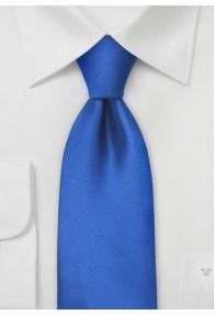 Lange Krawatte unifarben königsblau