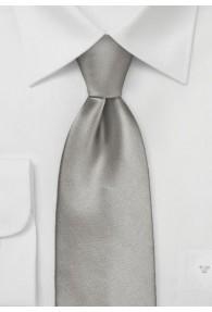 Extra lange Krawatte monochrom altsilber