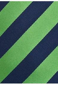 Lange Businesskrawatte navy grün Streifendesign
