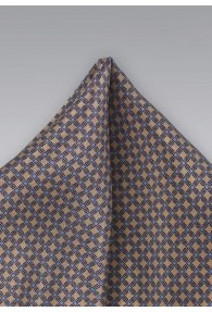 Ziertuch hellbraun stahlblau Waffel-Dekor