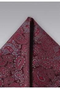 Einstecktuch lockeres Paisley-Muster dunkelrot