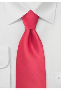 XXL-Krawatte tomatenrot einfarbig