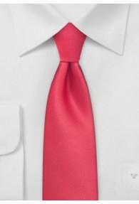 Schmale Krawatte tomatenrot einfarbig