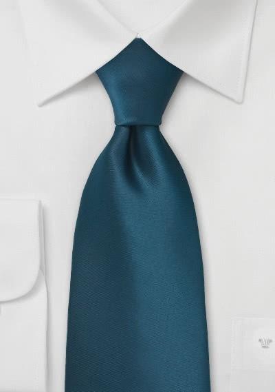 XXL-Krawatte aquamarinblau unifarben
