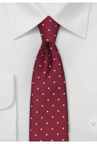 Schmale Krawatte Pünktchen rot weiß