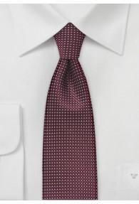 Schmale Krawatte strukturiert bordeaux fast...