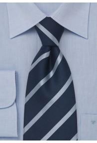 Kinder-Krawatte schmale Streifen in blau