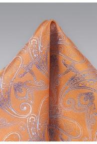 Einstecktuch stilvolles Paisleymotiv orange