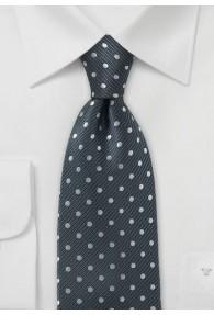 Krawatte anthrazit Tupfen