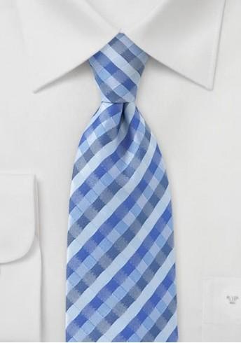 Businesskrawatte gemustertes Streifen-Muster eisblau
