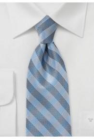 Karomuster-Krawatte gesprenkelt hellblau