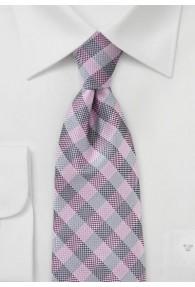 Karomuster-Businesskrawatte marmoriert rosa