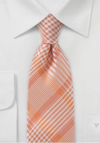 Krawatte orange Karomuster