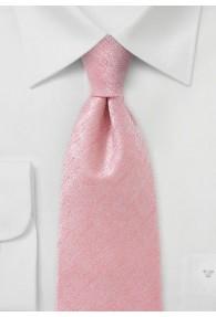 Auffallende Krawatte einfarbig marmoriert rose