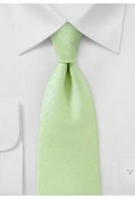 Modische Krawatte monochrom marmoriert blassgrün