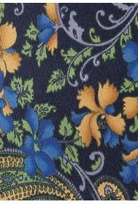 Krawatte Blümchenmotiv dunkelblau